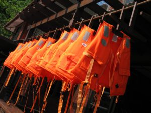 Life Jackets on a fishing boat